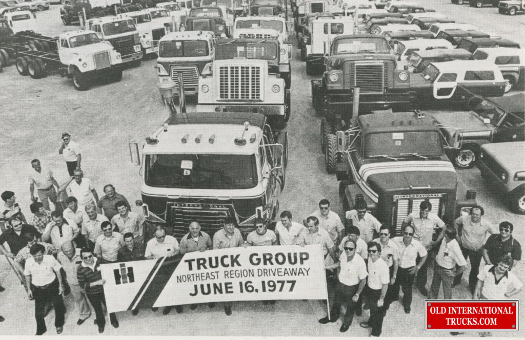 "June 16 1977 Drive away from Fort Wayne Indiana Heavy Duty International COF-4070's, Fleetstar's, F4370's <div class=""download-image""><a href=""https://oldinternationaltrucks.com/wp-content/uploads/2017/12/5-20-20142.jpg"" download><i class=""fa fa-download""></i> <span class=""full-size""></span></a></div>"