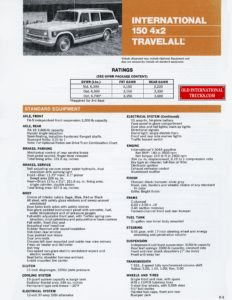 International 150 4x2 Travelall 1975