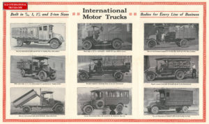 "1919 INTERNATIONAL TRUCK LINE UP <div class=""download-image""><a href=""https://oldinternationaltrucks.com/wp-content/uploads/2017/12/built-in-3-4-1-1-1-2-and-2-ton-sizes.jpg"" download><i class=""fa fa-download""></i> <span class=""full-size""></span></a></div>"