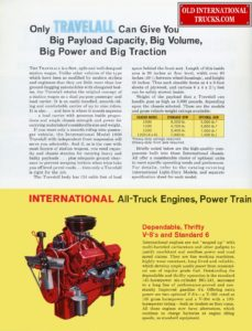 only travelall can give you big payload capasity, big volume, pig power and big traction 1963 