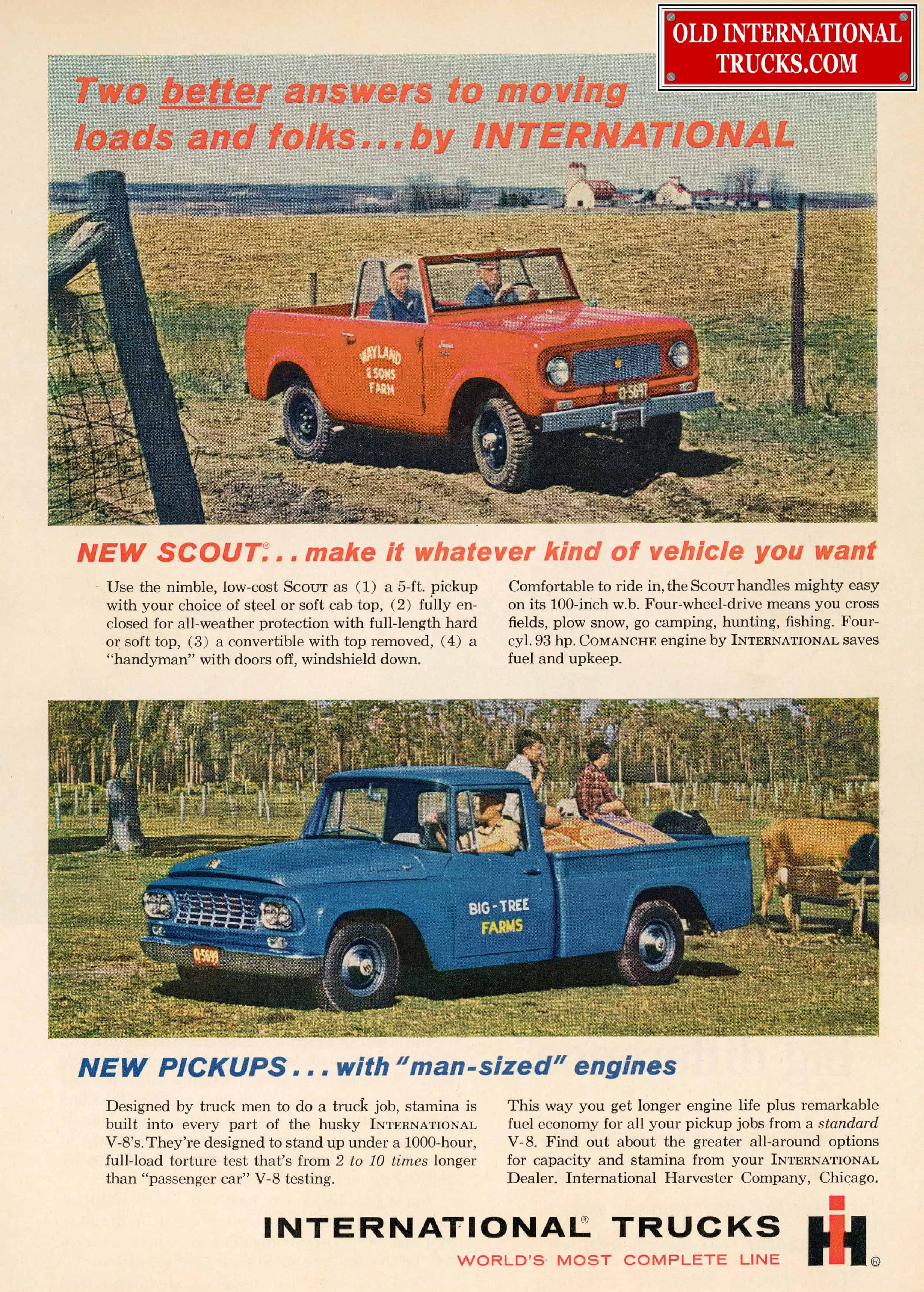 Old International Ads From The C Series Models 1961-1962