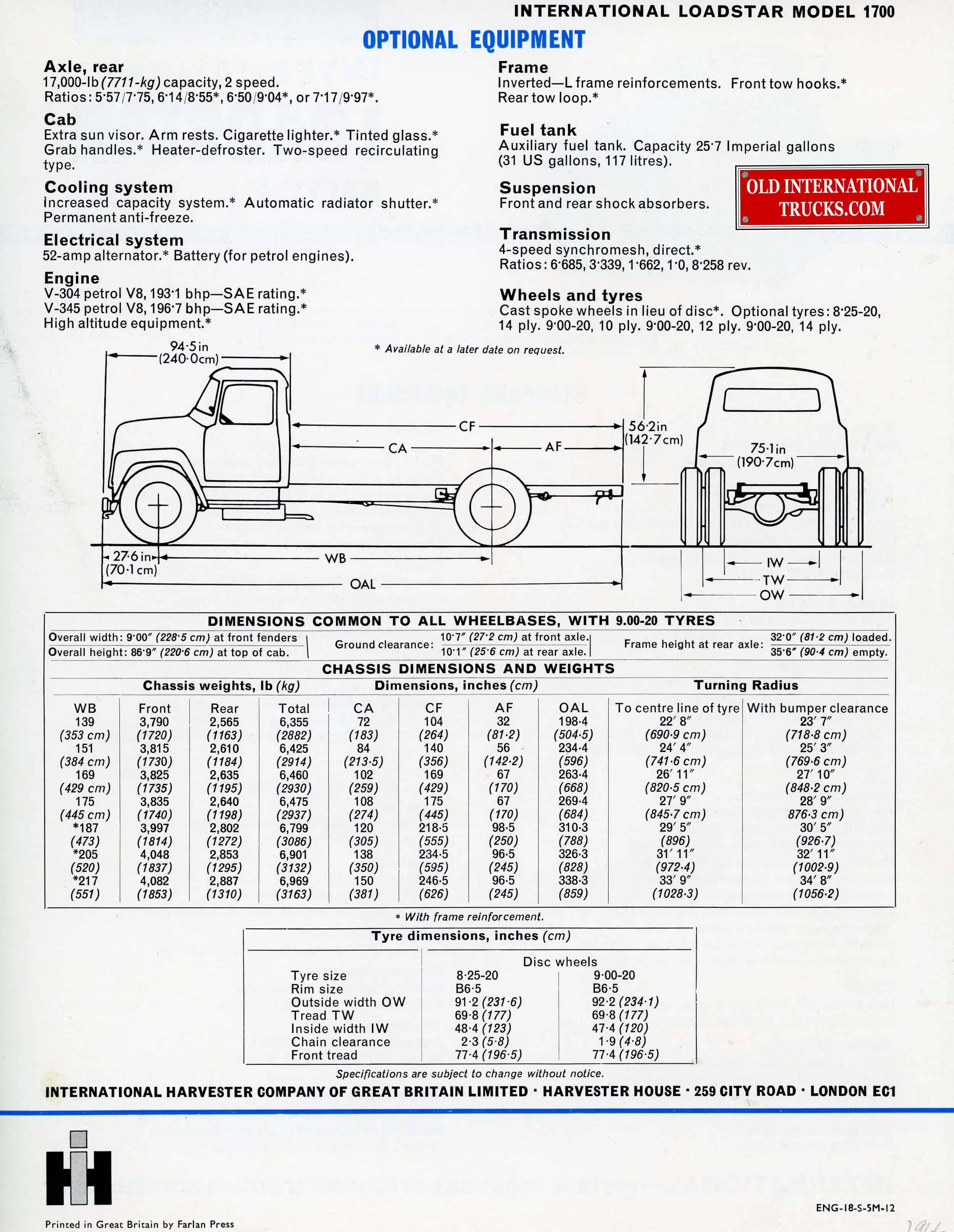 enchanting 1974 ih loadstar 1700 wiring diagram photos