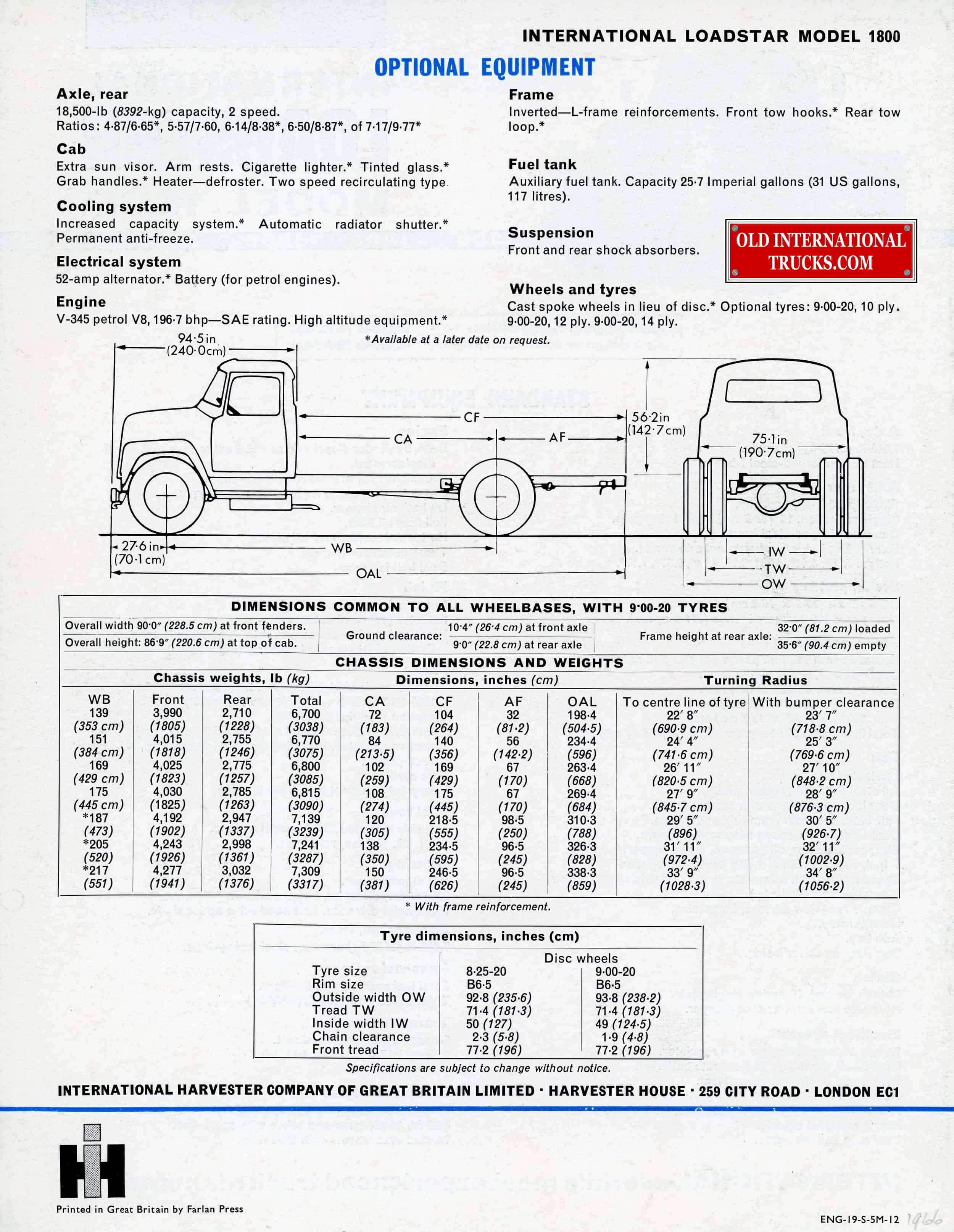 international loadstar 1600 on truck wiring diagram
