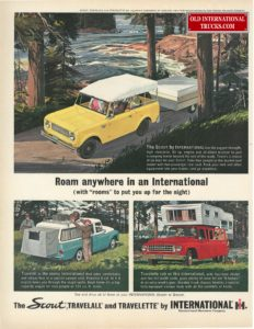 "1963 SCOUT 80, TRAVELALL &amp; PICK UP AD. <div class=""download-image""><a href=""https://oldinternationaltrucks.com/wp-content/uploads/2017/12/roam-anywhere-in-an-international.jpg"" download><i class=""fa fa-download""></i> <span class=""full-size""></span></a></div>"