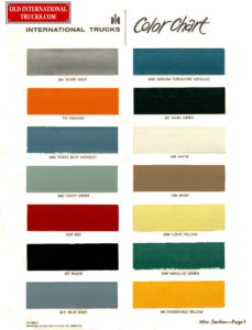 1963 color chart
