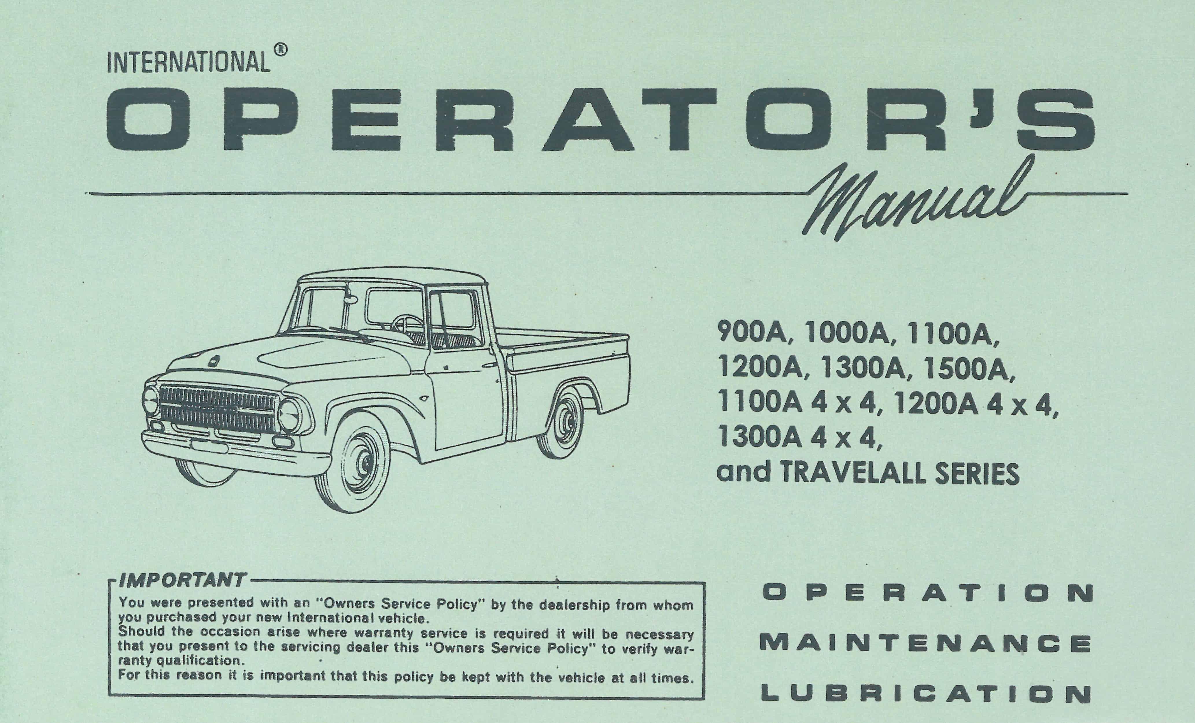 owner operating manual u2022 old international truck parts rh oldinternationaltrucks com international truck service manual pdf international truck user manual