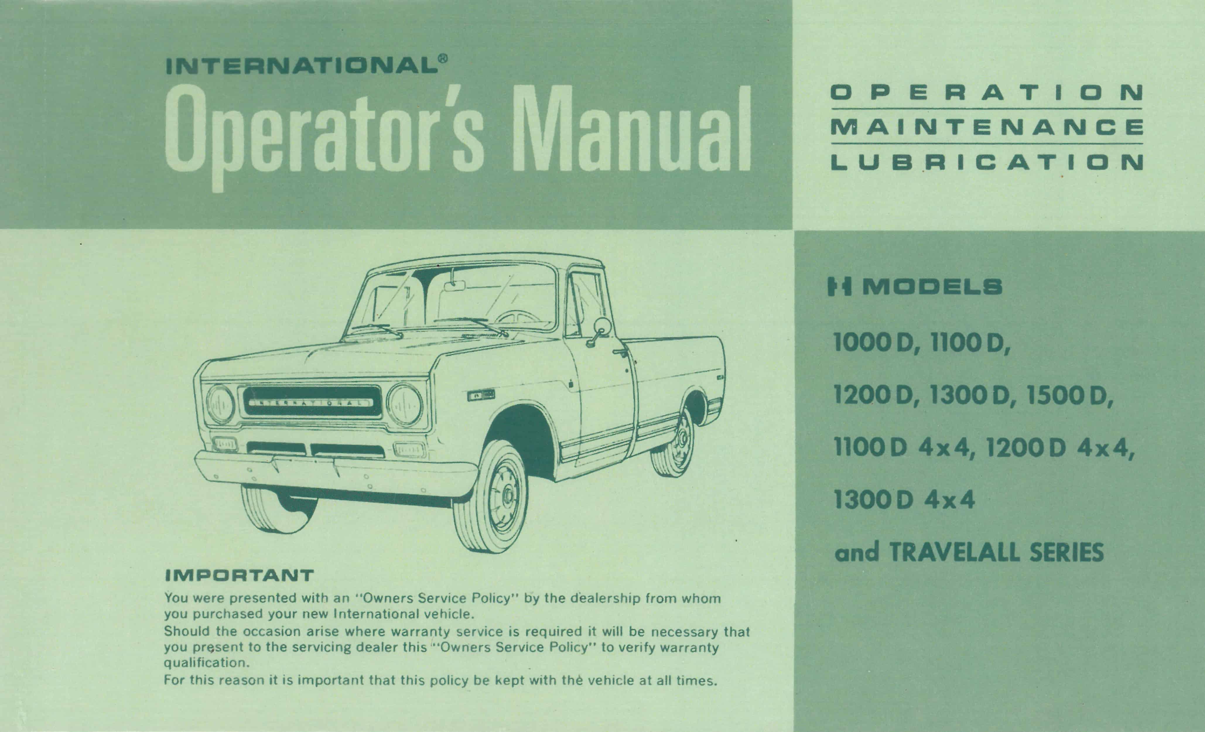 International truck operators manual