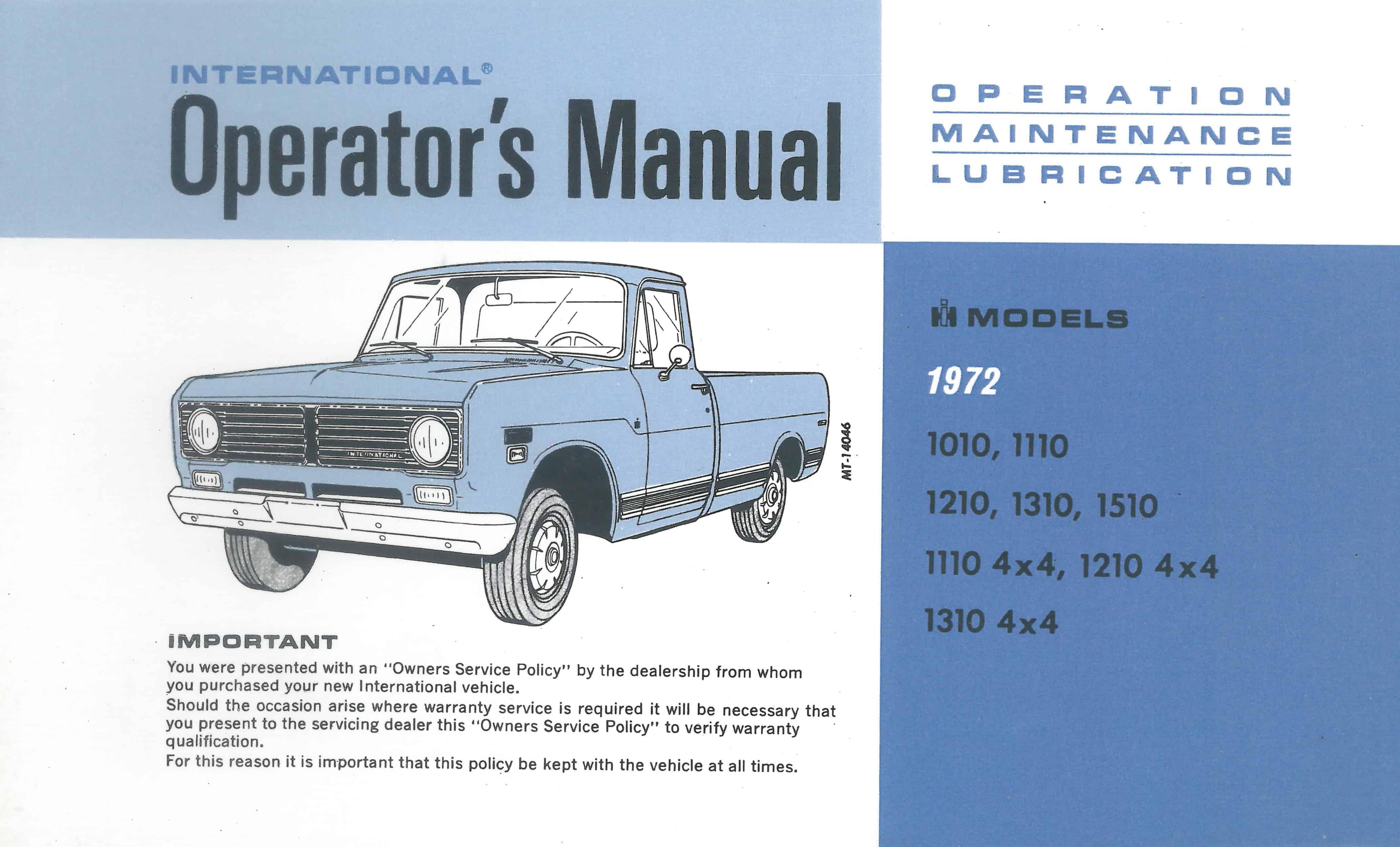 owners operating manual u2022 old international truck parts rh oldinternationaltrucks com 4300 international truck owners manual international trucks service manual
