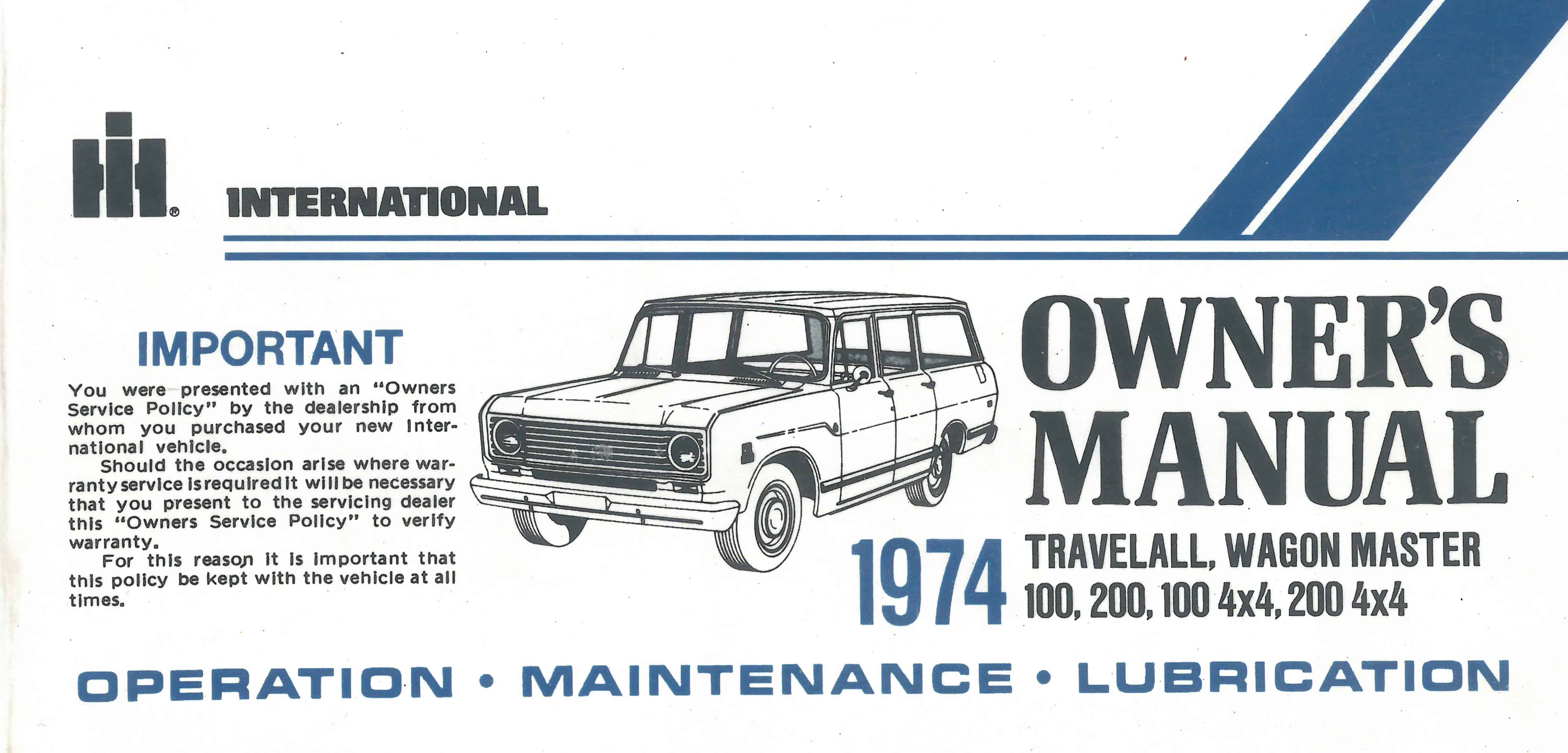 Owners operating manual