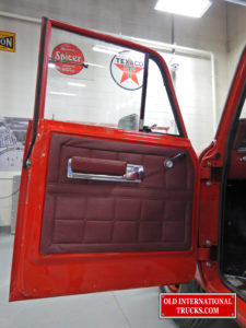 Left door and trim panels installed 