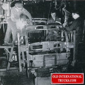 "1948 KB Panel body being welded  <div class=""download-image""><a href=""https://oldinternationaltrucks.com/wp-content/uploads/2018/04/1948-KB-PANNEL-BODY-WELDING-.jpg"" download><i class=""fa fa-download""></i> <span class=""full-size""></span></a></div>"