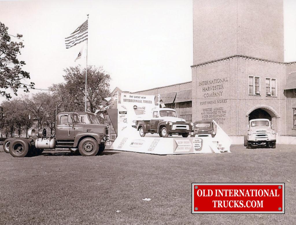 "1956 Trucks at Fort Wayne Plant <div class=""download-image""><a href=""https://oldinternationaltrucks.com/wp-content/uploads/2018/04/1956-TRUCKS-AT-FORT-WAYNE-PLANT.jpg"" download><i class=""fa fa-download""></i> <span class=""full-size""></span></a></div>"