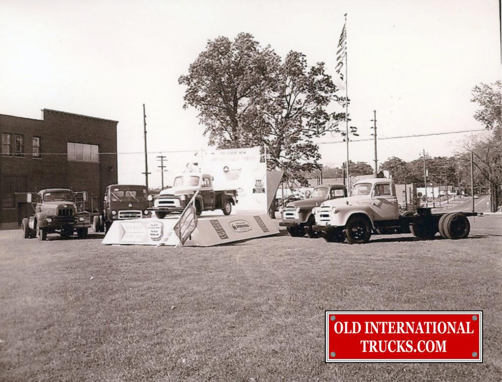 "1956 Trucks on display at Fort Wayne Plant <div class=""download-image""><a href=""https://oldinternationaltrucks.com/wp-content/uploads/2018/04/1956-TRUCKS-ON-DISPLAY-.jpg"" download><i class=""fa fa-download""></i> <span class=""full-size""></span></a></div>"