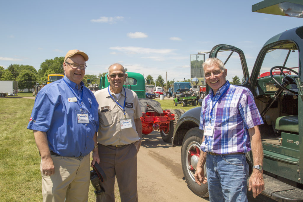 """2017 ATHS National Show in Des Moine Iowa George Kirkham with Customers Earl Feller and Ron Smoker <div class=""""download-image""""><a href=""""https://oldinternationaltrucks.com/wp-content/uploads/2018/05/4.jpg"""" download><i class=""""fa fa-download""""></i> <span class=""""full-size""""></span></a></div>"""