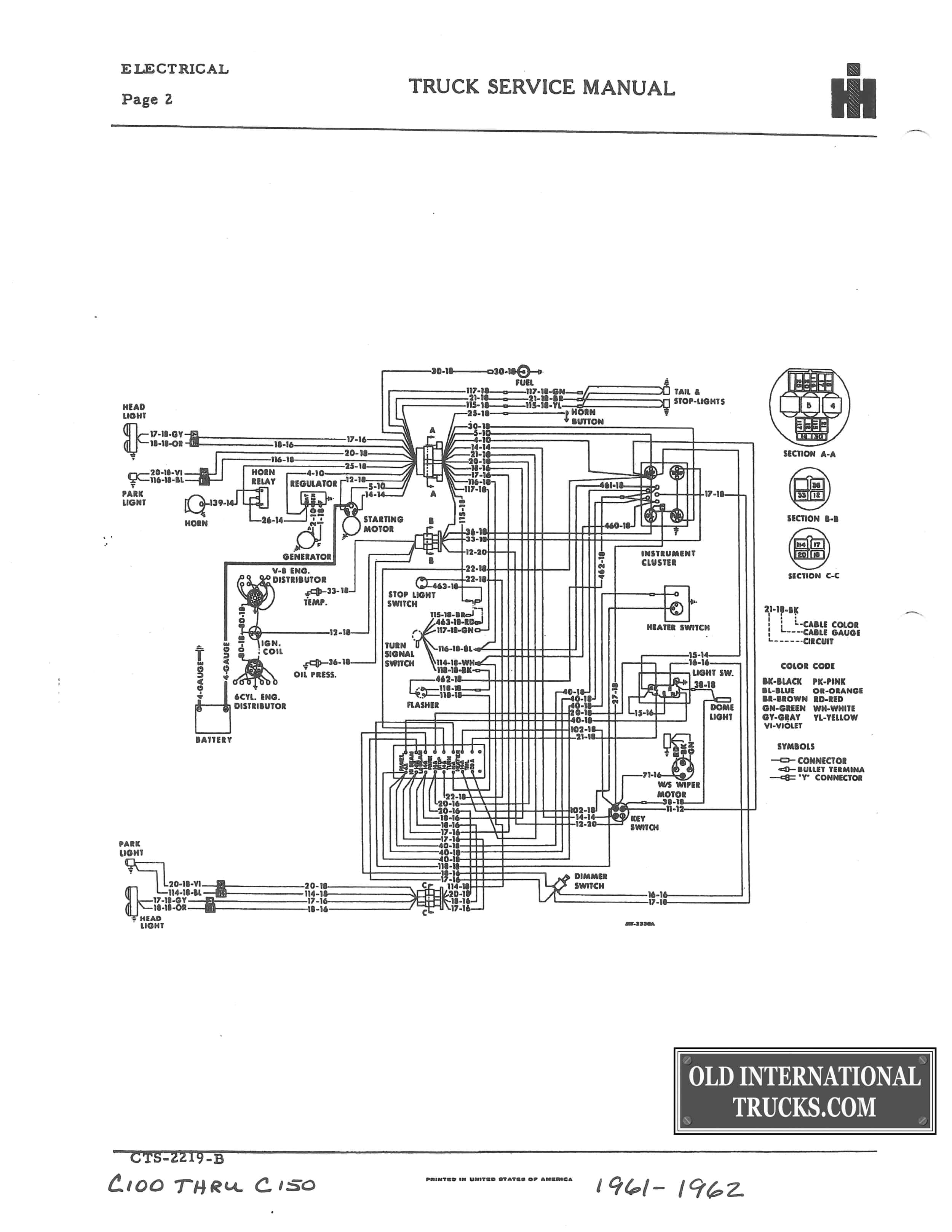 International Truck Wiring Diagram from oldinternationaltrucks.com