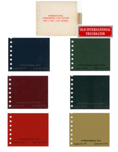1935 1936 1937 International trucks colors