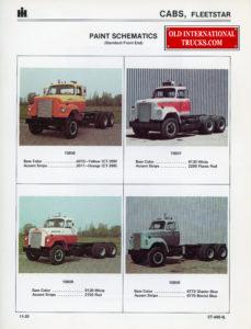 1970 to 1977 Fleetstar A color chart