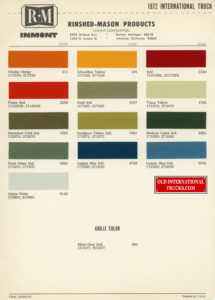 "1972 color chart <div class=""download-image""><a href=""https://oldinternationaltrucks.com/wp-content/uploads/2018/07/1972-color-chart.jpg"" download><i class=""fa fa-download""></i> <span class=""full-size""></span></a></div>"
