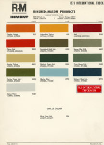 "1973 color chart <div class=""download-image""><a href=""https://oldinternationaltrucks.com/wp-content/uploads/2018/07/1973-color-chart.jpg"" download><i class=""fa fa-download""></i> <span class=""full-size""></span></a></div>"