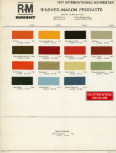 "1977 color chart <div class=""download-image""><a href=""https://oldinternationaltrucks.com/wp-content/uploads/2018/07/1977-color-chart.jpg"" download><i class=""fa fa-download""></i> <span class=""full-size""></span></a></div>"