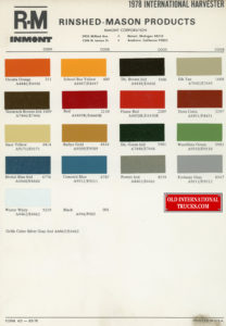 "1978 Color chart <div class=""download-image""><a href=""https://oldinternationaltrucks.com/wp-content/uploads/2018/07/1978-Color-chart.jpg"" download><i class=""fa fa-download""></i> <span class=""full-size""></span></a></div>"