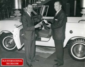 "R.P, Fugle, Spokane Motor truck branch manager for international Harvester. attended a recent three day conference at Los Angeles where the company unveiled its new turbocharged ""champagne Scout""