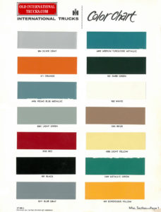 "1963 Color Chart CT-380-A <div class=""download-image""><a href=""https://oldinternationaltrucks.com/wp-content/uploads/2020/02/1963-Color-Chart-CT-380-A.jpg"" download><i class=""fa fa-download""></i> <span class=""full-size""></span></a></div>"